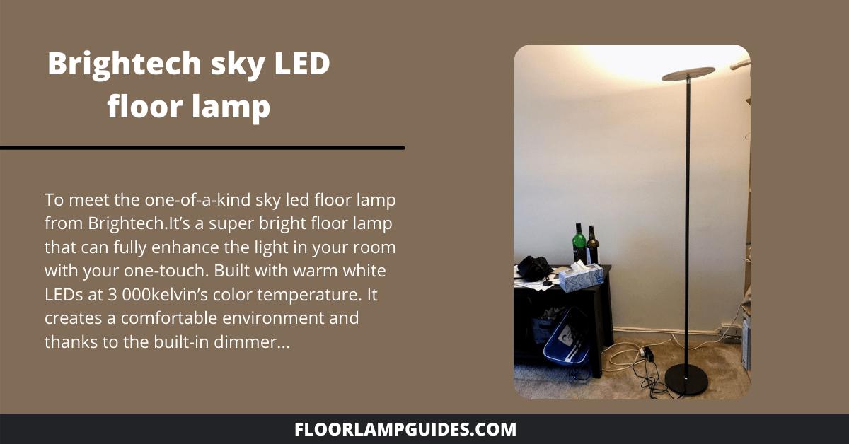 Brightech sky LED floor lamp