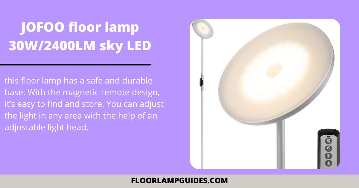 JOFOO floor lamp 30W_2400LM sky LED