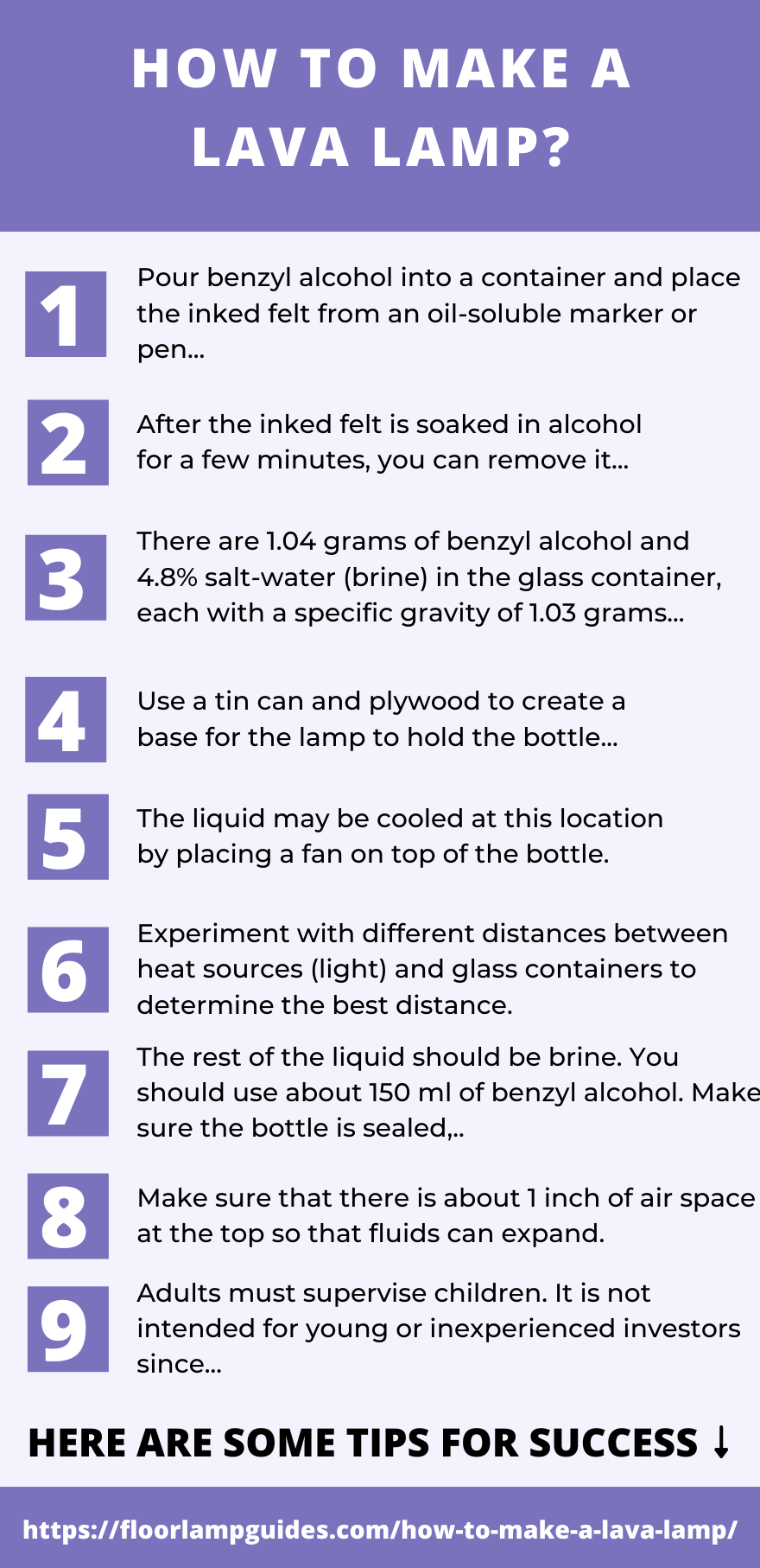 HOW TO MAKE A LAVA LAMP?
