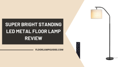 Photo of Super Bright Standing LED Metal Floor Lamp Review